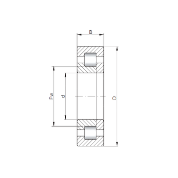 NUP420 CX Cylindrical Roller Bearings #1 small image