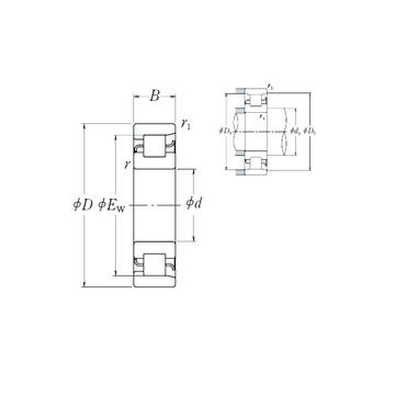 NF 209 NSK Cylindrical Roller Bearings #1 image